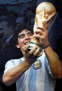 Child's Football Training Barnet - argentine football icon Diego Maradona